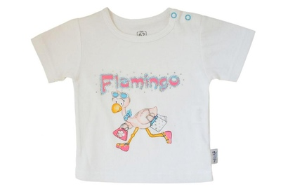 """bluzka krótki rękaw """"Śladami flaminga"""""""