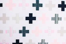 """pościel dziecięca """"Plusy"""" różowa 100 x 135"""