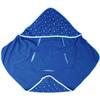 okrycie kąpielowe z kapturkiem Muślin Gwiazdki białe na niebieskim100 x 100