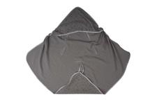 okrycie kąpielowe z kapturkiem Muślin trójkąty szare na szarym 100 x 100