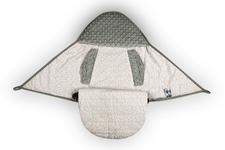 wielofunkcyjny śpiworek do fotelika Kolorowe Kropki/minky szare  80 x 80