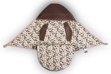 wielofunkcyjny śpiworek do fotelika Małpki/minky pudrowy róż  80 x 80