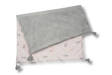 kocyk Sarenki minky gładkie szare 70 x 100 cm