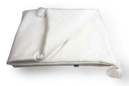 kocyk KAN ekrii-paski z chwostami 75 x 100