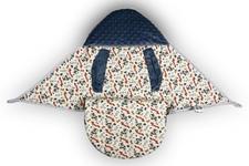 wielofunkcyjny śpiworek do fotelika Małpki NI/minky jeans   80 x 80