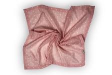 """kocyk lekki """"Muślinowe Gwiazdki"""" różowy  65 x 65 cm"""
