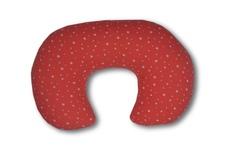 rogal-poduszka do karmienia gwiazdki malina /muślin biały 73 x 50