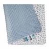 kocyk minky abc/ołówki 744 - niebieskie  minky  80x80 cm