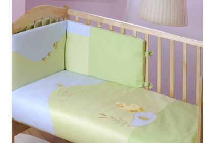"""pościel do łóżeczka """"Donald zielony"""" 100 x 135 4 cz."""