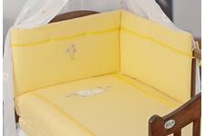 """ZESTAW! Bawełniana , haftowana pościel do łóżeczka """"Daisy ZU"""" 3 cz.100 x 135 + komplet do wózka oraz biały baldachim woalowy- GRATIS"""