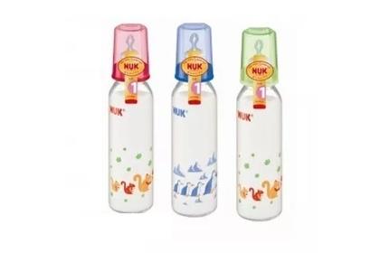 szklana butelka do karmienia NUK 230ml lateksowy smoczek 1