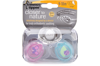 smoczek ortodontyczny Tommee Tippee Closter to Nature Pure 9-18 m