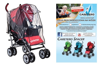 folia przeciwdeszczowa na wózek spacerowy Caretero