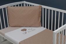 """pościel do łóżeczka """"Baranki"""" 100 x 135"""