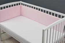 ochraniacz do łóżeczka z dzianiny różowy 30 x 3000
