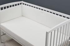ochraniacz do łóżeczka z dzianiny ecru 30 x 300