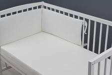 ochraniacz do łóżeczka z dzianiny ecru 30 x 180