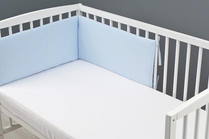 ochraniacz do łóżeczka z dzianiny niebieski 30 x 180