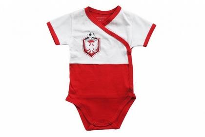"""body baby krótki rękaw """"Biało - Czerwoni"""""""